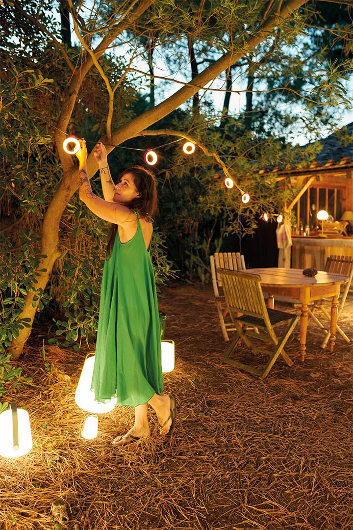 Hoop LED Fairy lights Outdoor Fermob Cactus