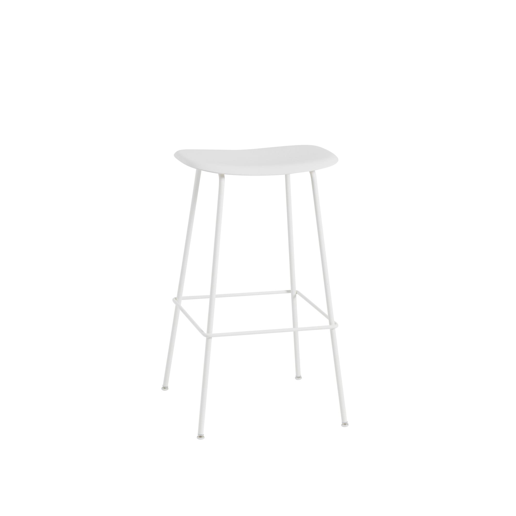 Fiber Bar Stool white / white Muuto 75 cm natural