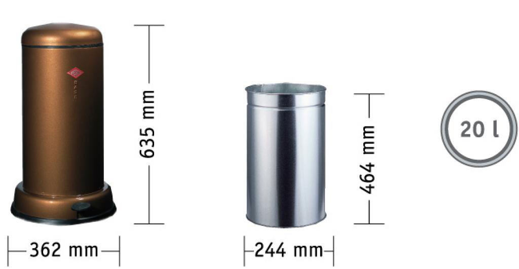 Baseboy 20 liter garbage can Wesco
