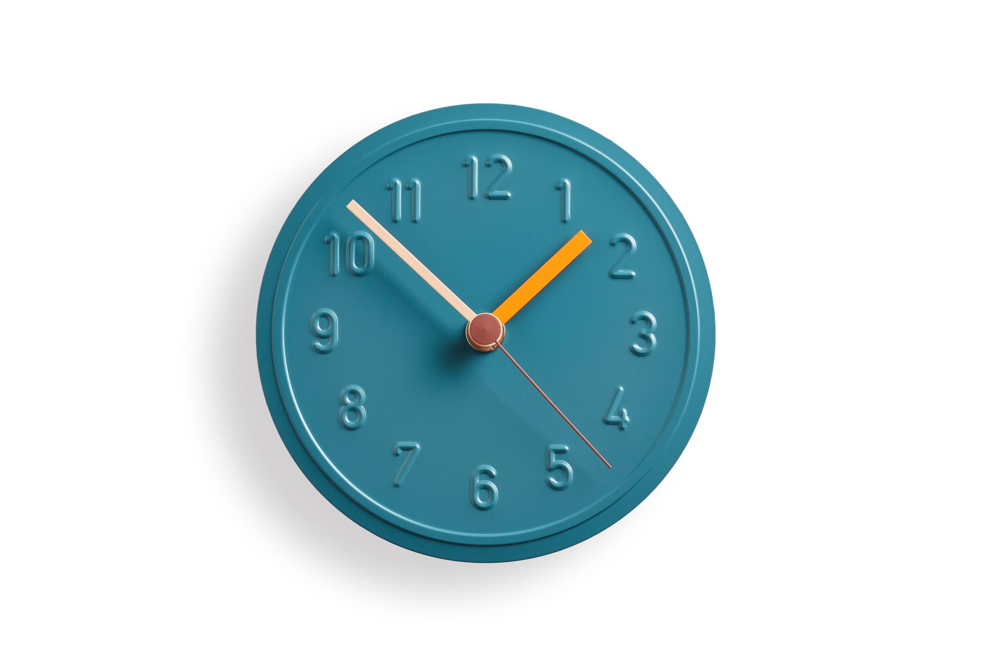 Alu Alu Wall Clock Verdigris Richard Lampert