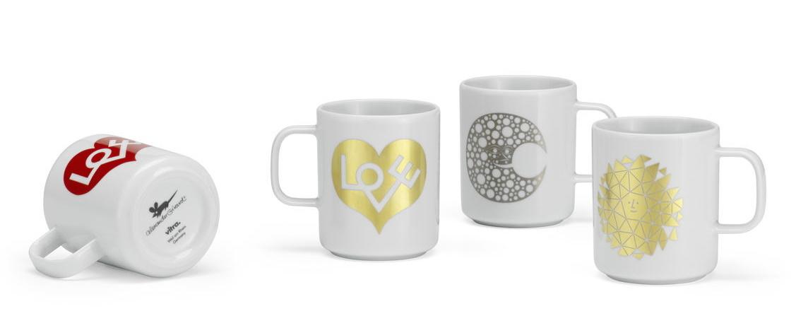 Coffee Mugs NEW Love Heart gold Vitra