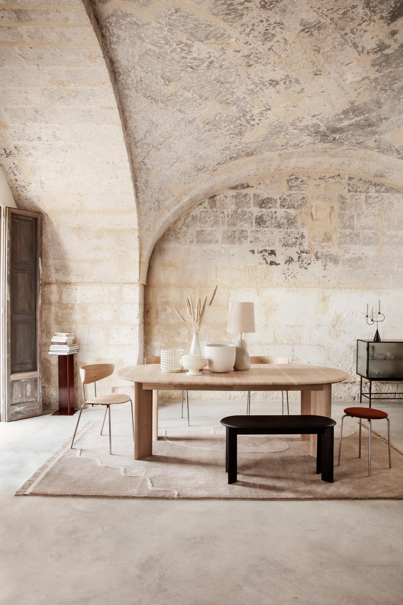Bevel Table - Extendable X 2 dining table oiled oak white Ferm Living