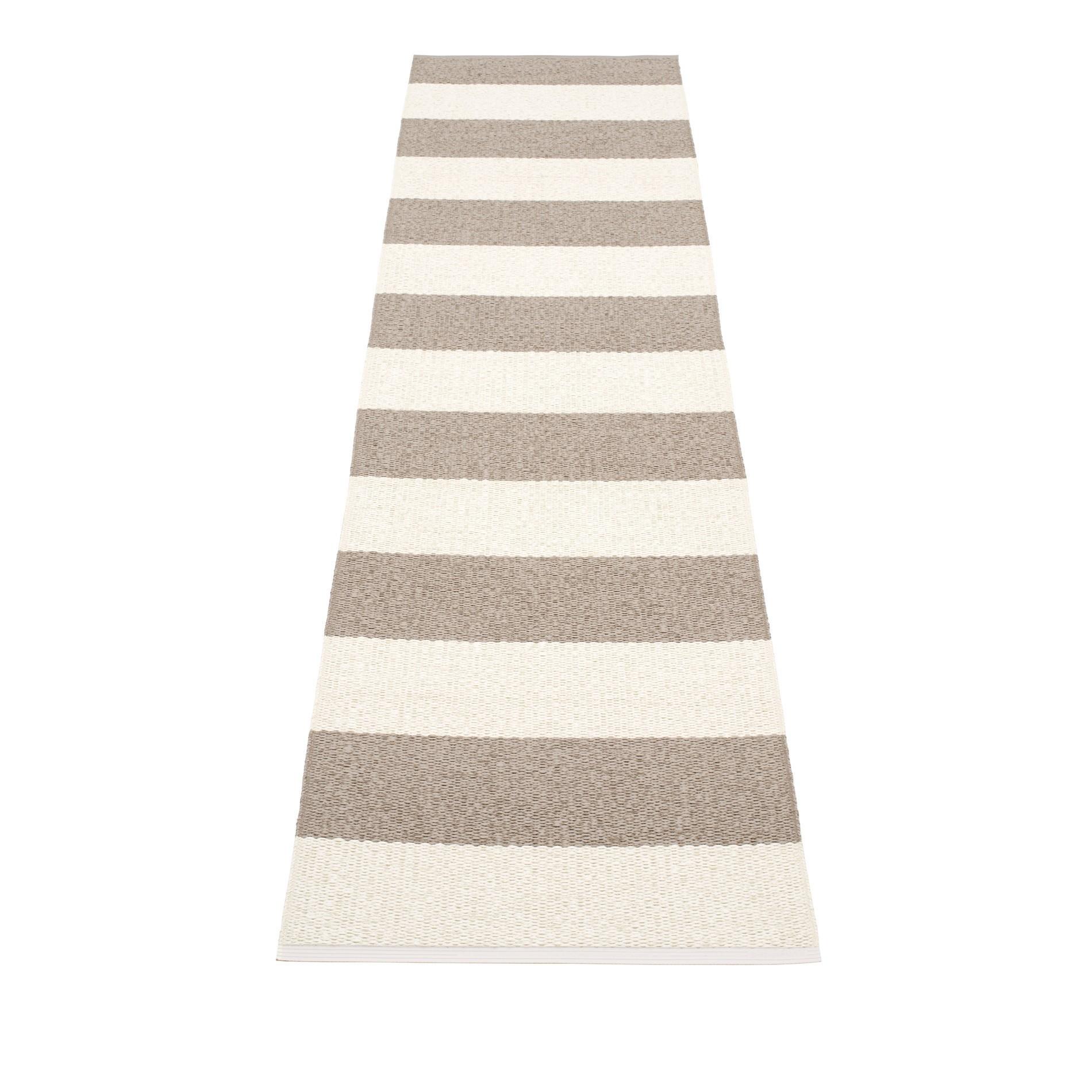 Bob Plastic Carpet 70x280 cm Pappelina Mud-Vanilla