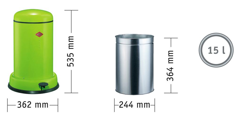 Baseboy 15 Liter garbage can Wesco
