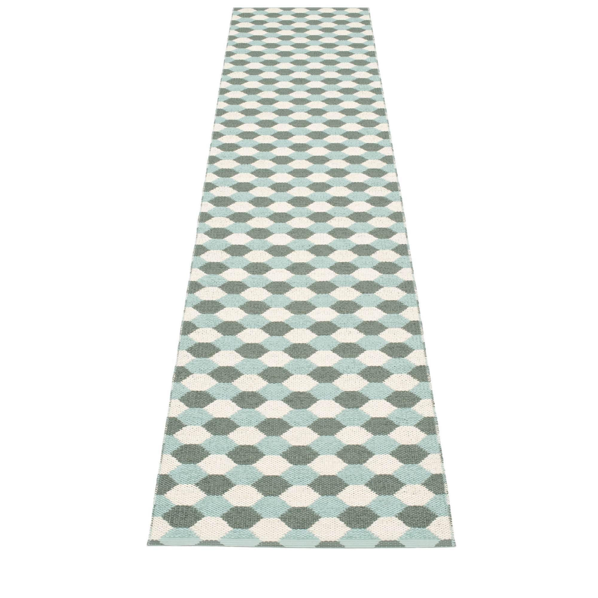 Dana plastic carpet 70x335 army Pappelina