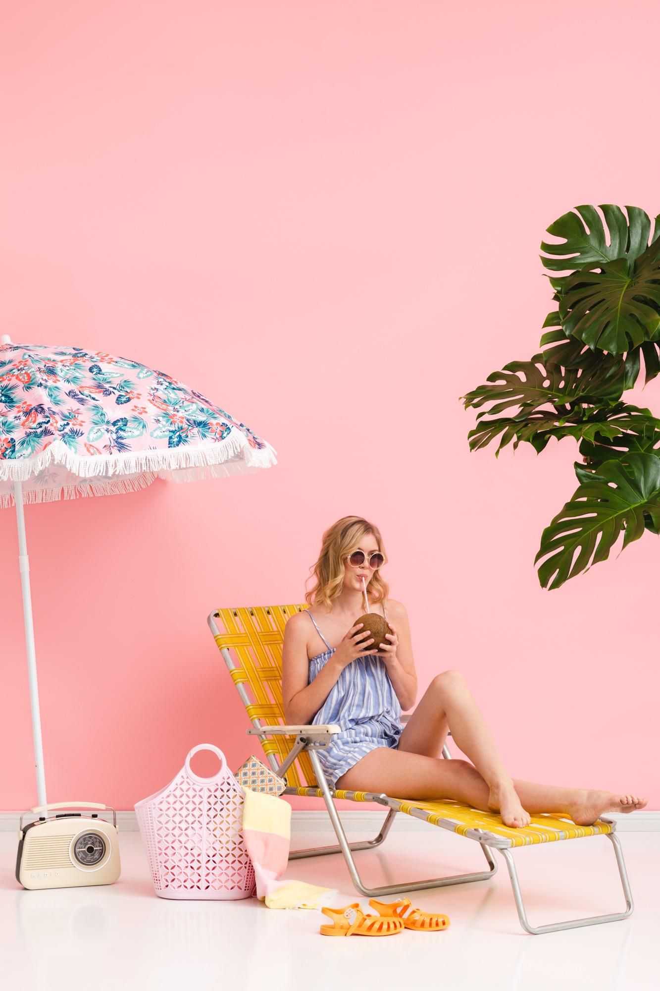 Atomic bag Sun Jellies pink