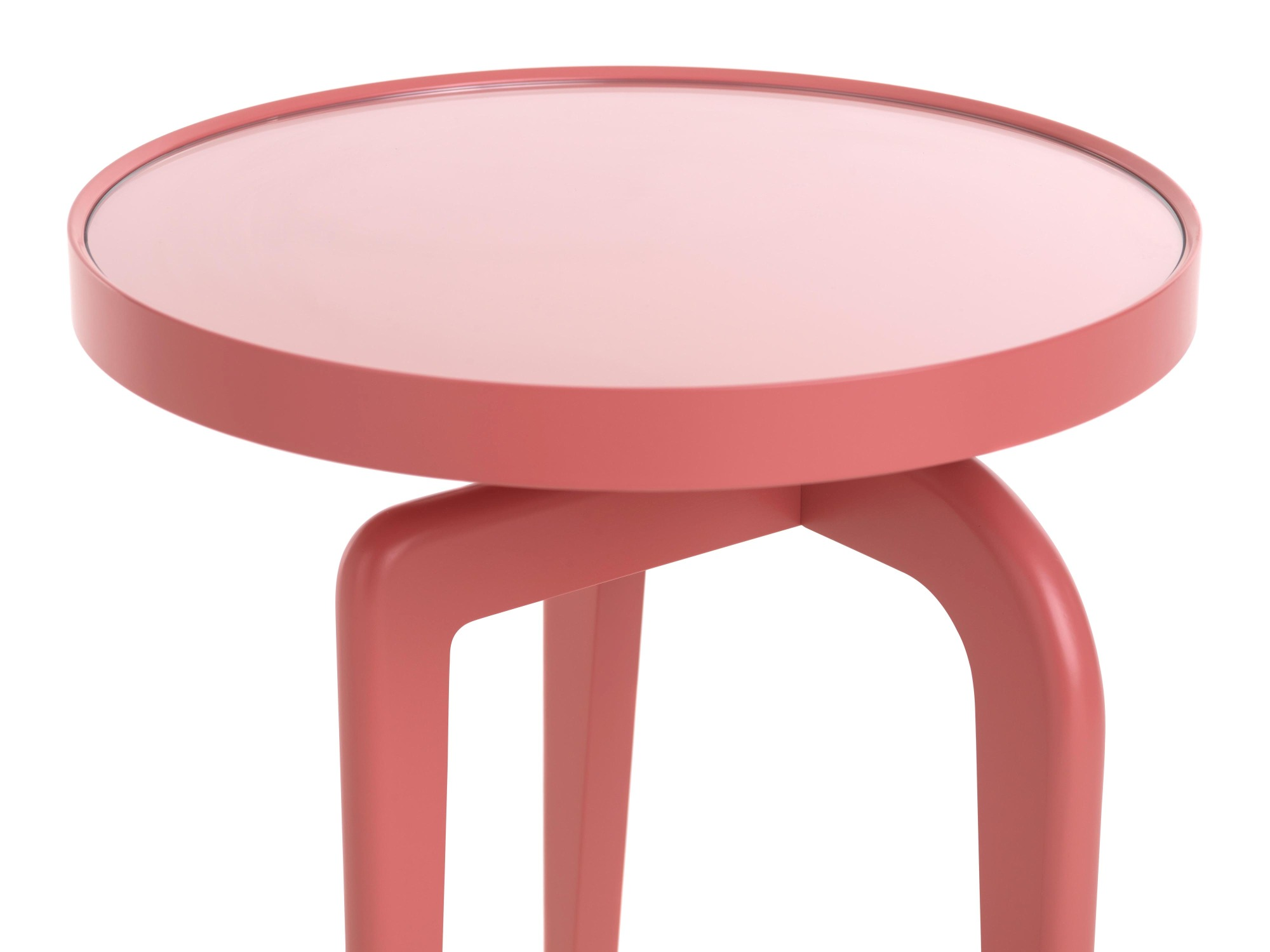 Ant side table, clear glass inset tops Schönbuch