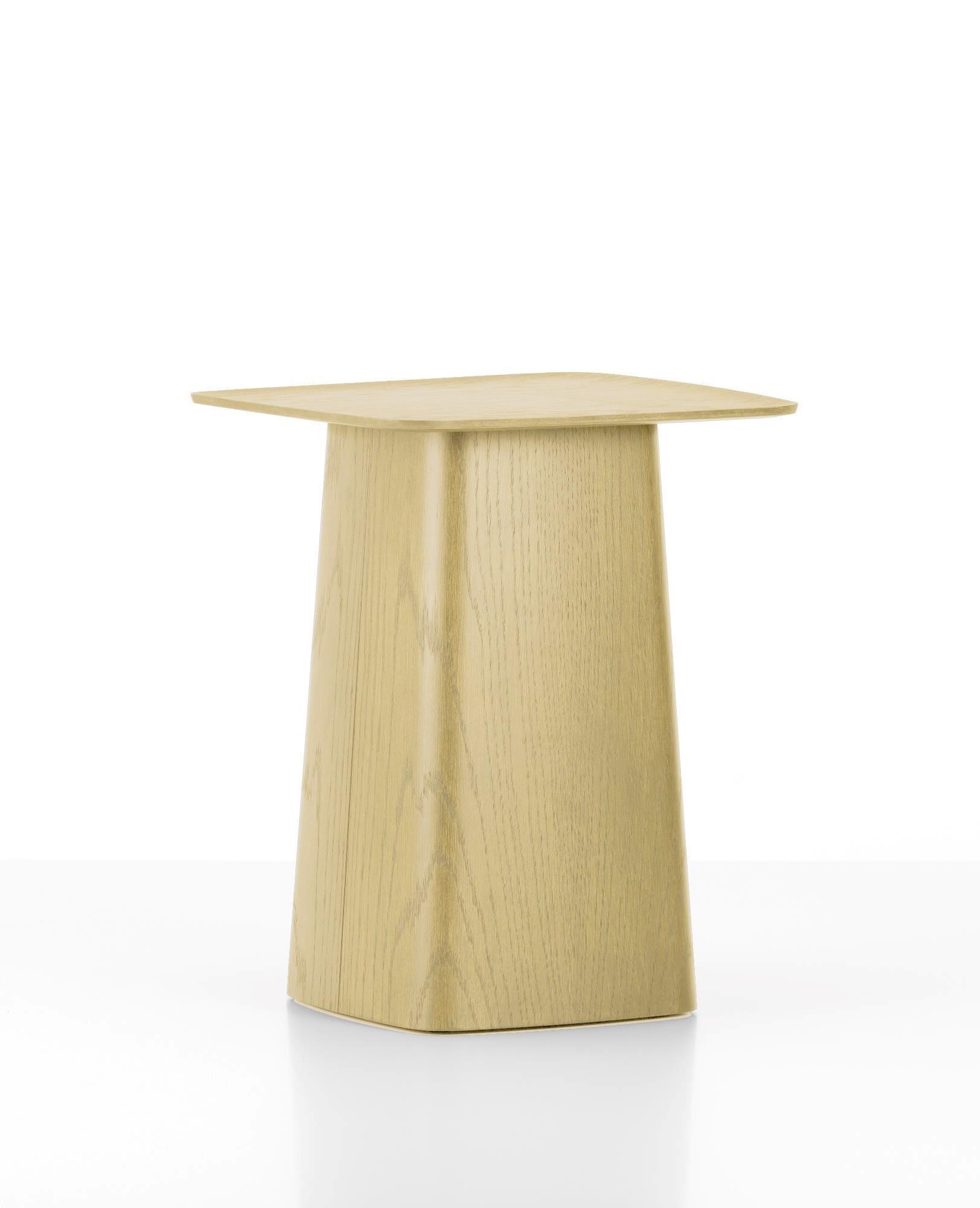 Wooden Side Table Beistelltisch Eiche klein Vitra-Eiche dunkel