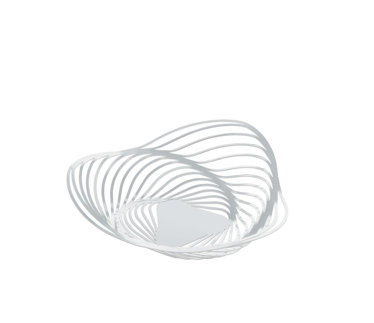 Schale H 7 x Ø 26 cm / weiß lackiert