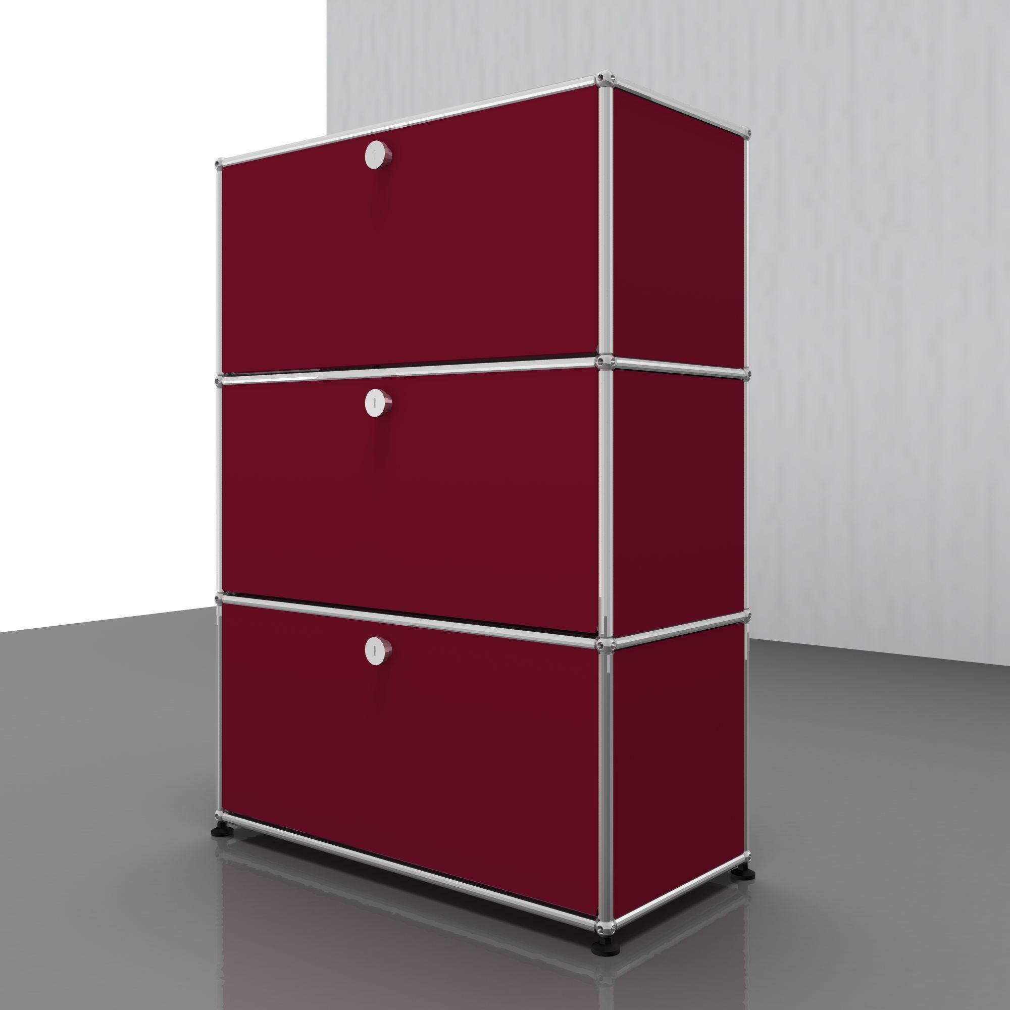 USM Haller Kommode – QUICK SHIP-USM rubinrot