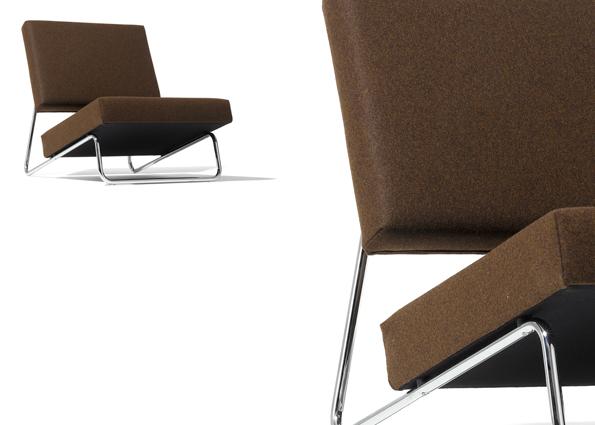 Lounge Chair Hirche fabric Richard Lampert