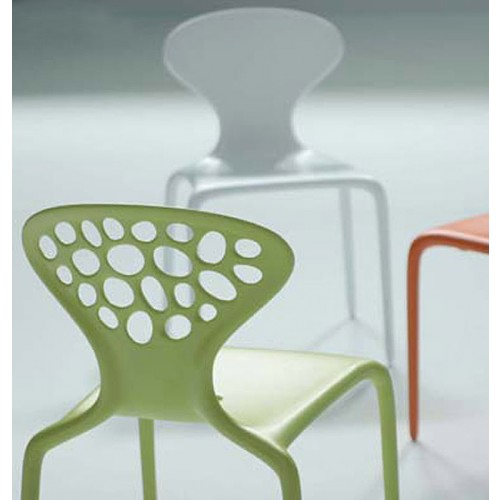 Supernatural chair perforated back set of 4 Moroso