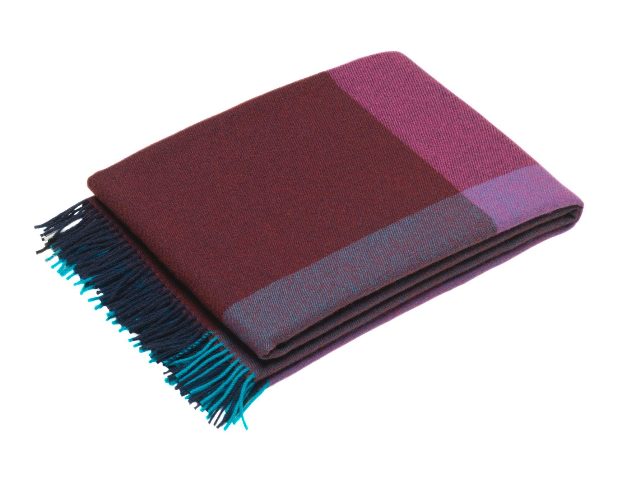 Colour Block Blanket Wolldecke Vitra-Pink-beige