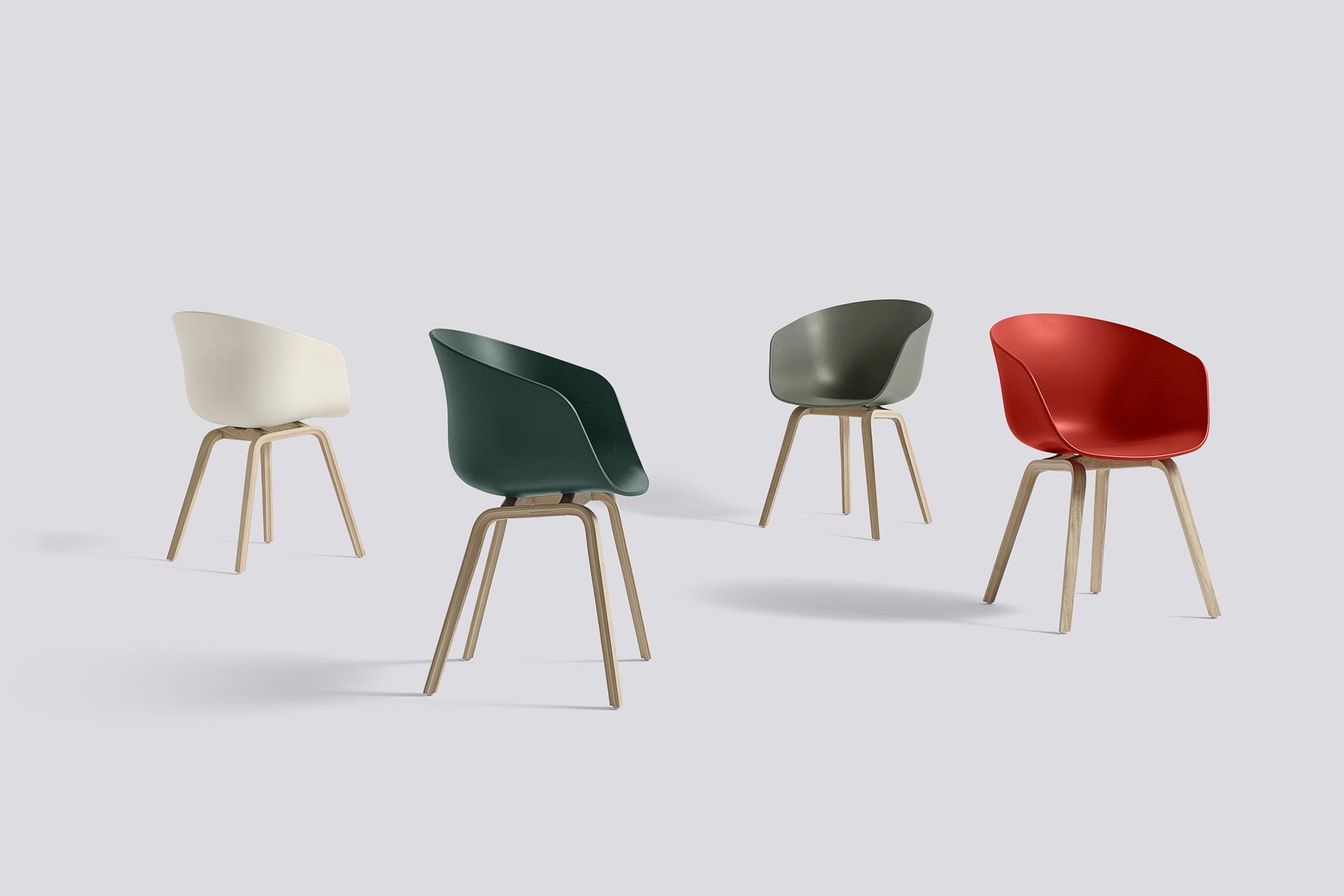 About A Chair AAC22 / AAC 22 Hay Oak matt lacquered - Orange
