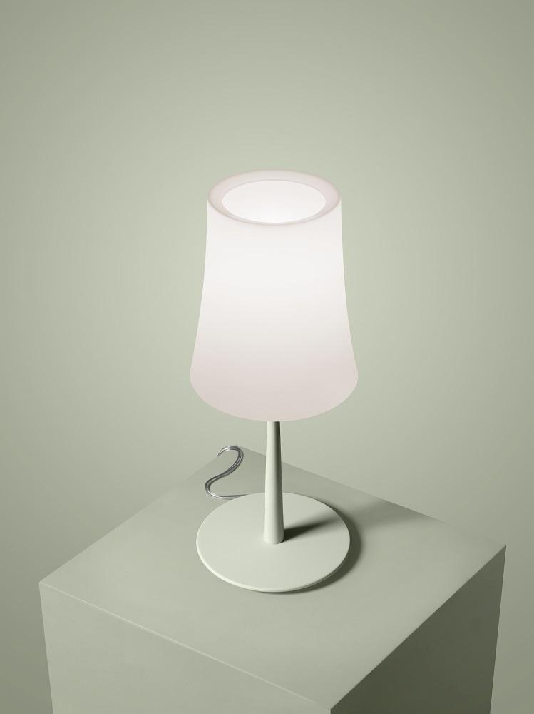 Birdie Easy Tavolo Table lamp Foscarini H 43 x Ø 17 cm sage green