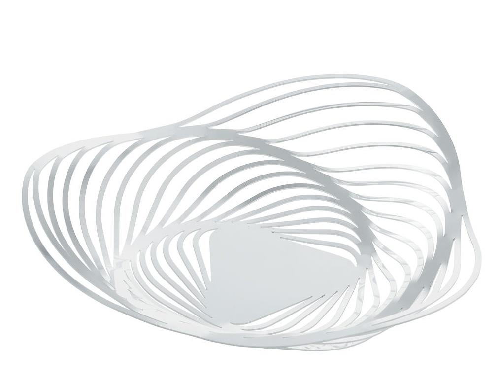 Schale H 8 x Ø 33 cm / weiß lackiert
