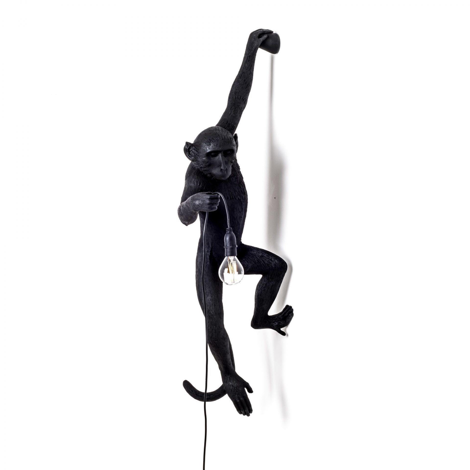 Monkey Lamp Black wall lamp Seletti