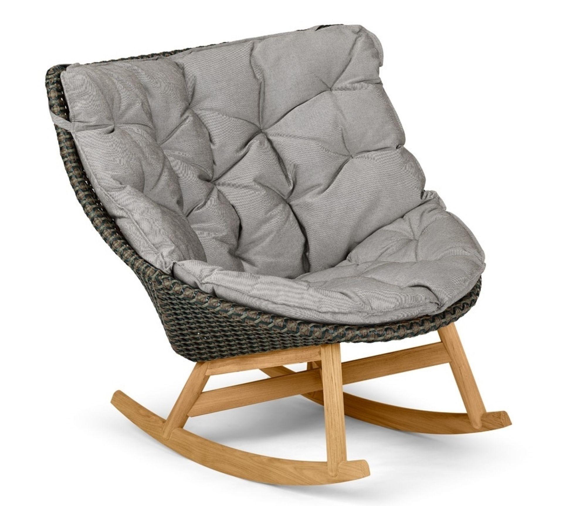 Mbrace rocking chair Schaukelstuhl pepper Dedon