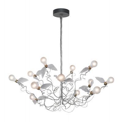 Birdie LED pendant lamp / chandelier transparent wire Ingo Maurer