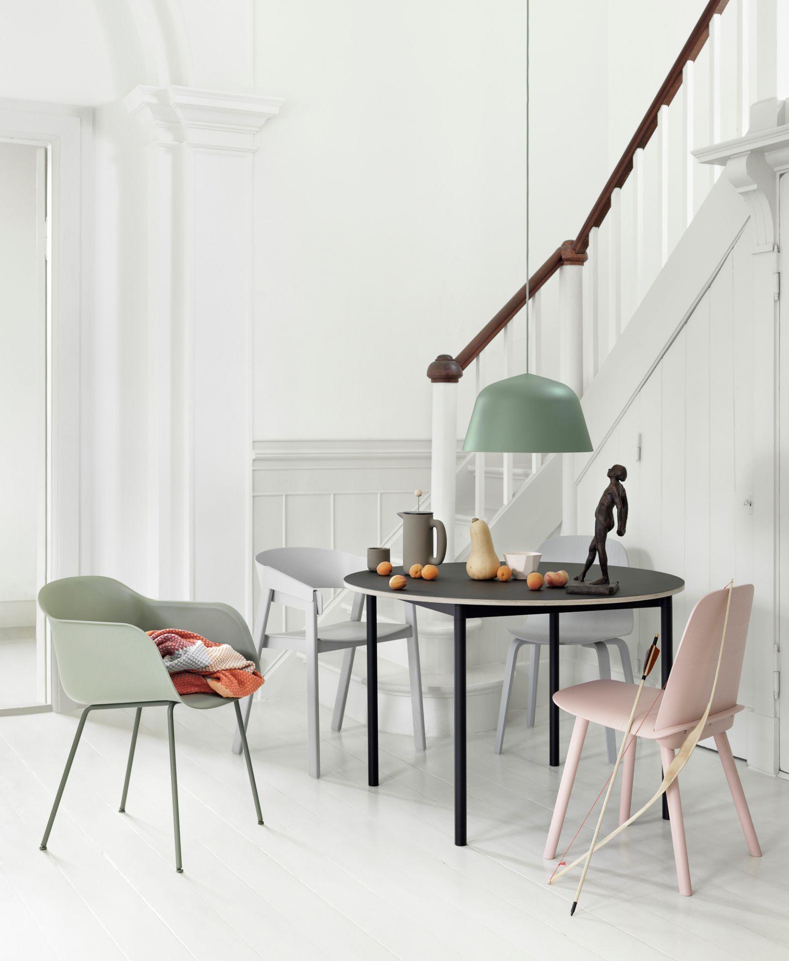 Fiber Armchair Tube Base Chair Muuto