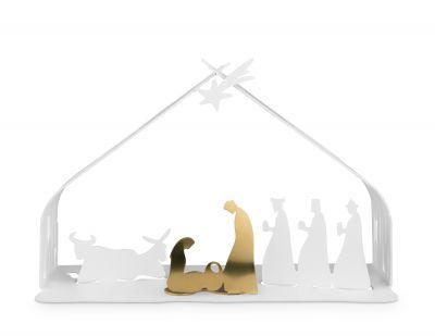 Bark Christmas crib white Alessi