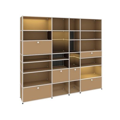 E shelf with illumination USM Haller