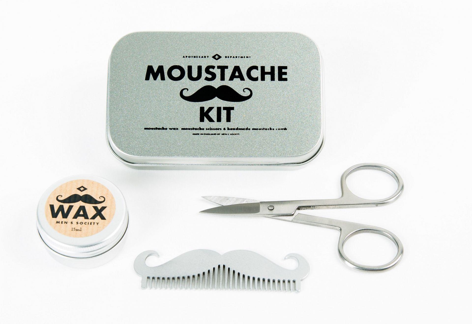 Moustache Grooming Kit Men S Society Mens Society Moustache Grooming Kit Einzelstuck