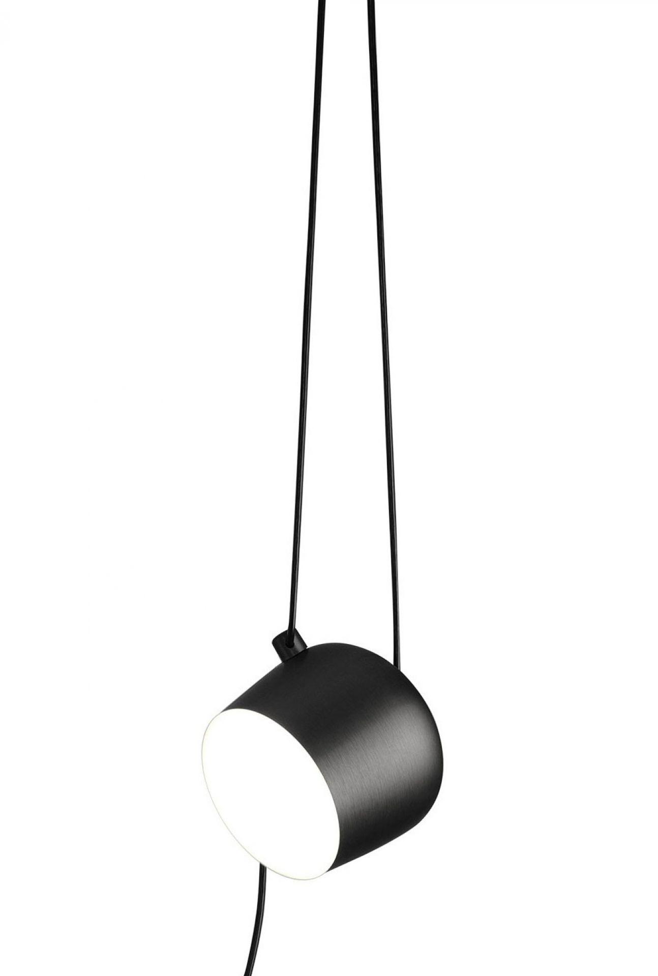 Aim Cable + Plug Pendant light large Flos Black
