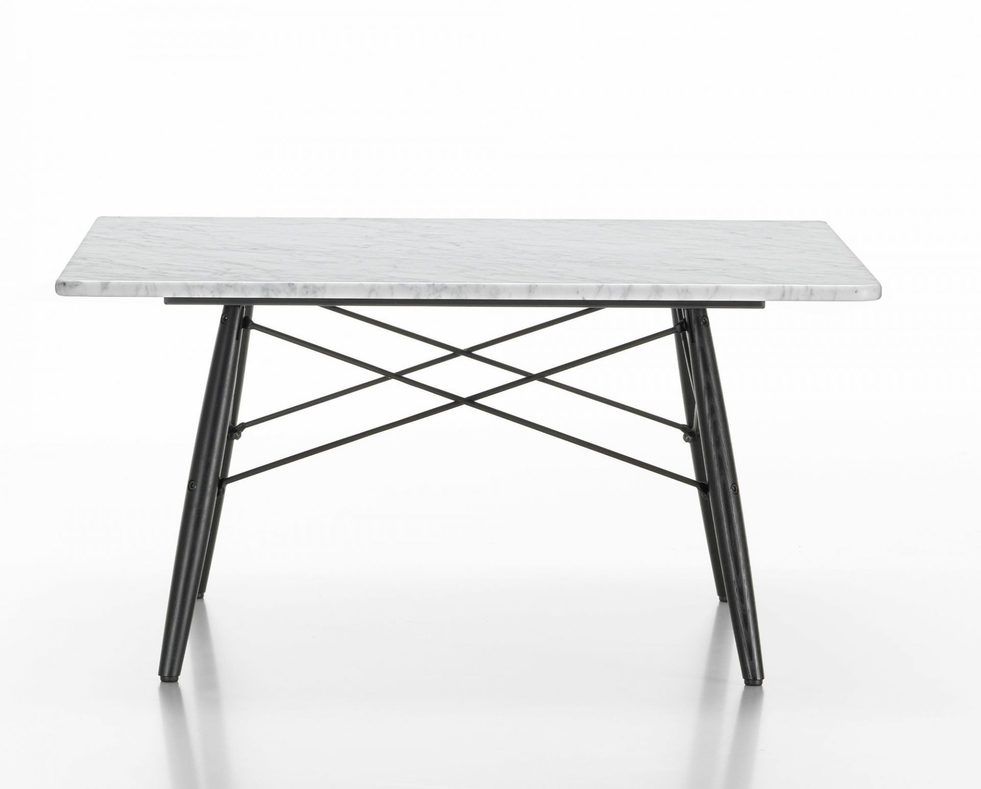 eames coffee table square marble white vitra