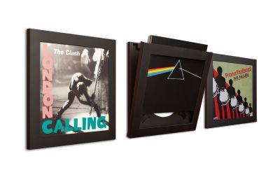 Art Vinyl records frame set of 3 black Klein & More