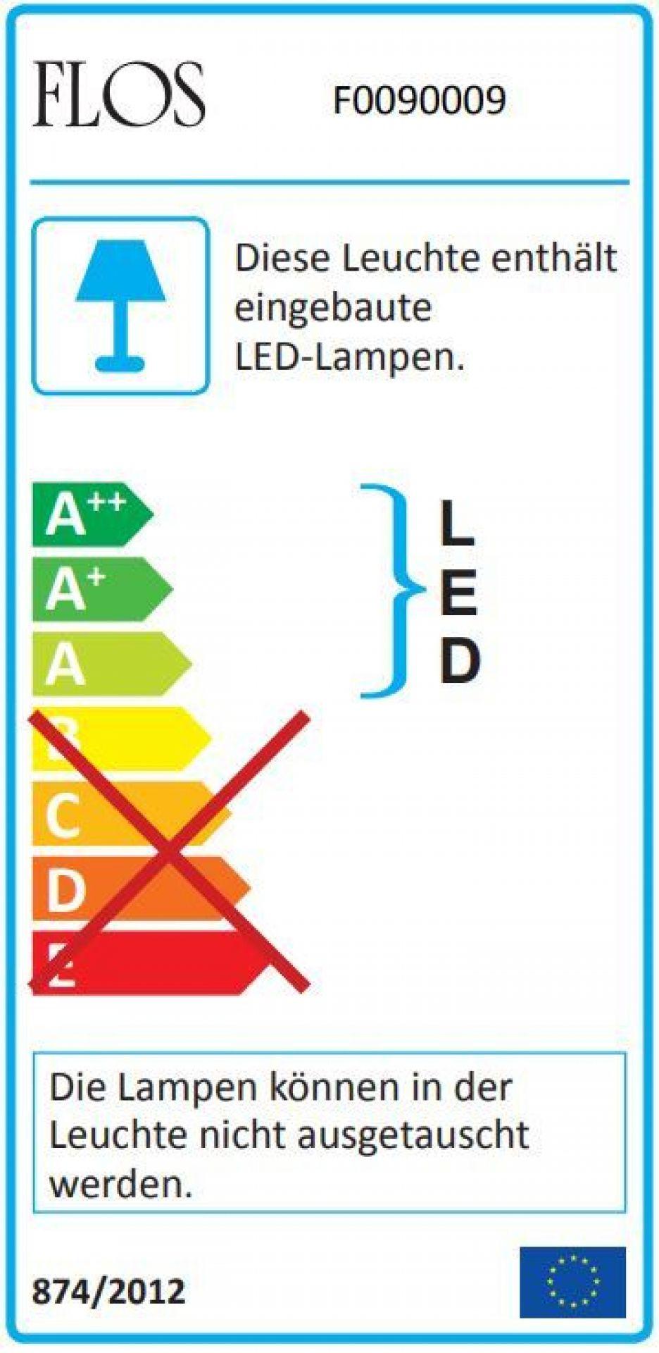 Aim LED Pendant light large Flos Black without dimmer