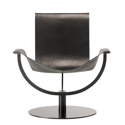 Arch Chair Armchair Core Leather Black Favius