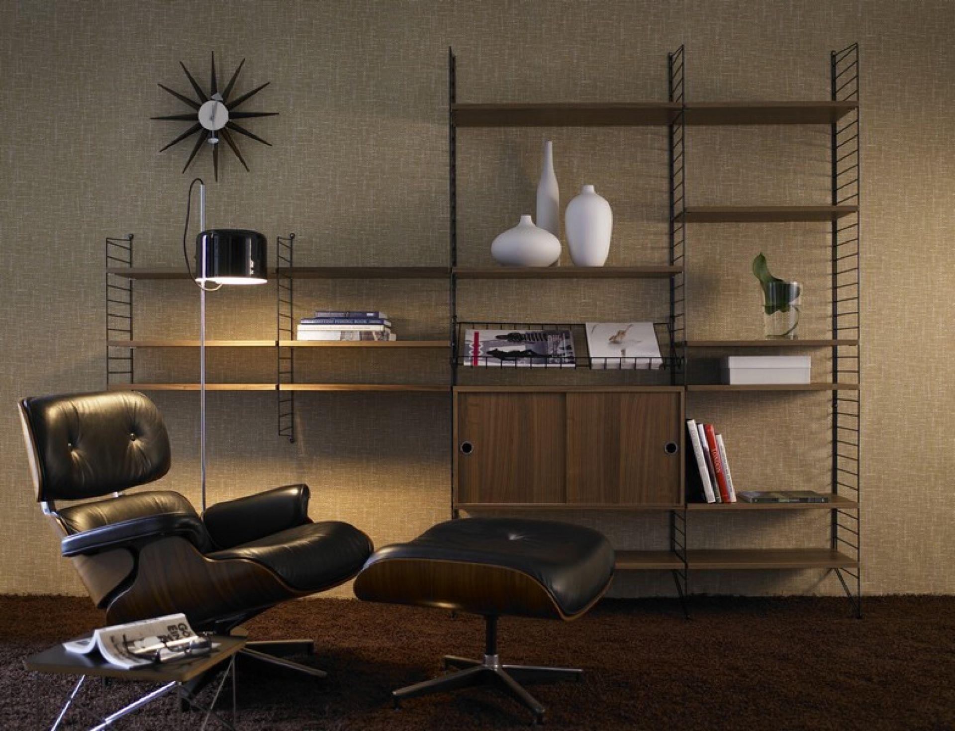 Additional Side wall 2-er Set for String wall depth 20 cm String Furniture