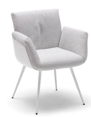 Alvo Armchair with Tubular metal frame Cor