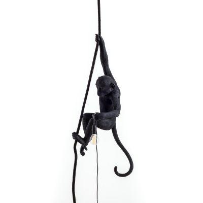 Monkey Lamp Black pendant lamp Seletti