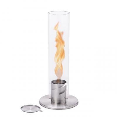 Spin 120 Lantern/Table Fire silver höfats