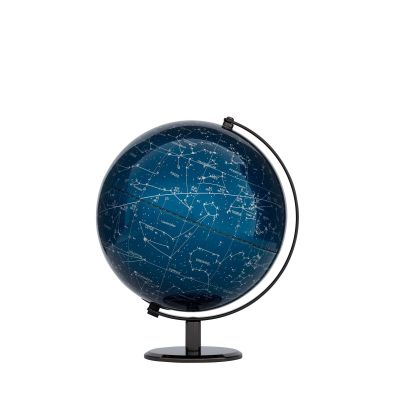 Illuminated globe Milky Way blue light globe Emform