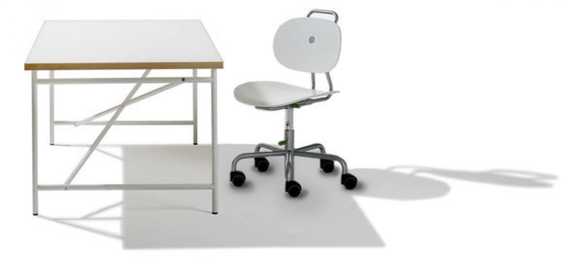 Eiermann desk for children white frame Richard Lampert