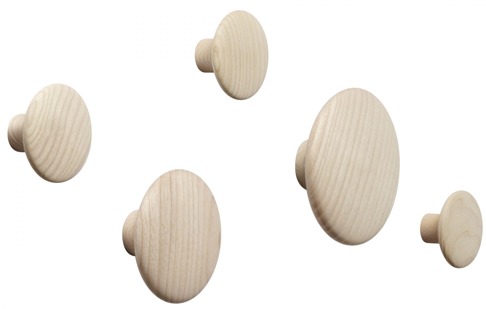 The Dots Wall Hook set of 5 white Muuto