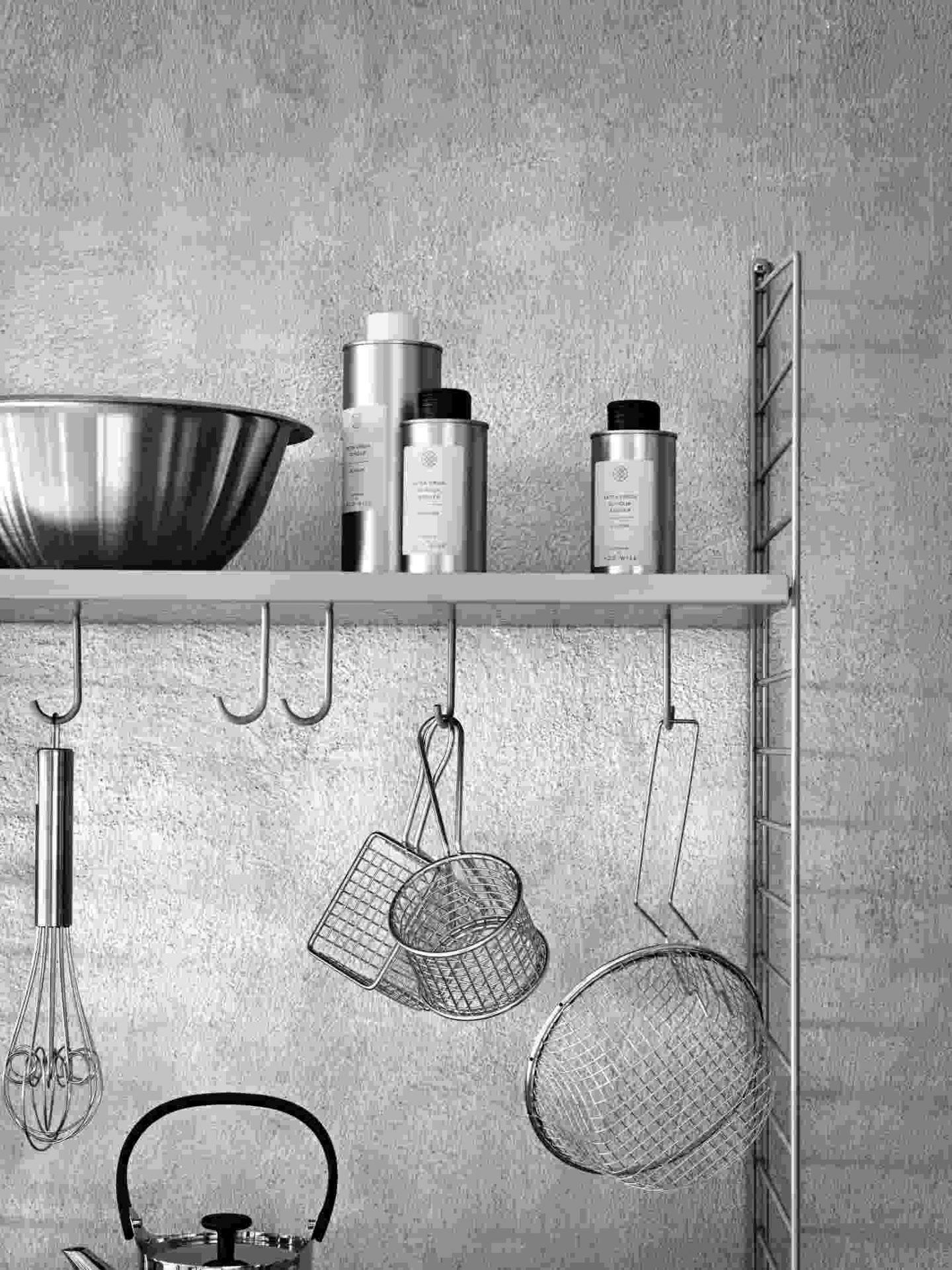 String Kitchen Wall Shelf System A String Furniture White White String Kitchen A Weiss