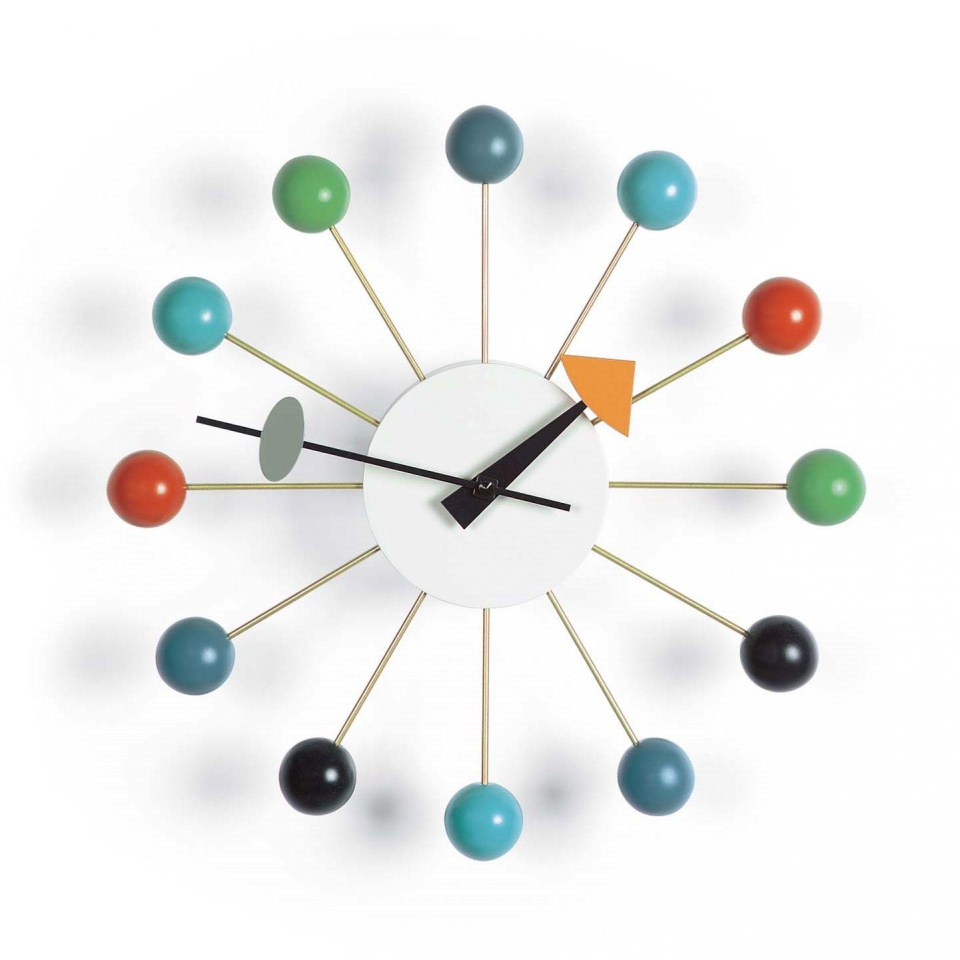 Ball Clock  Wall Clock - mehrfarbig