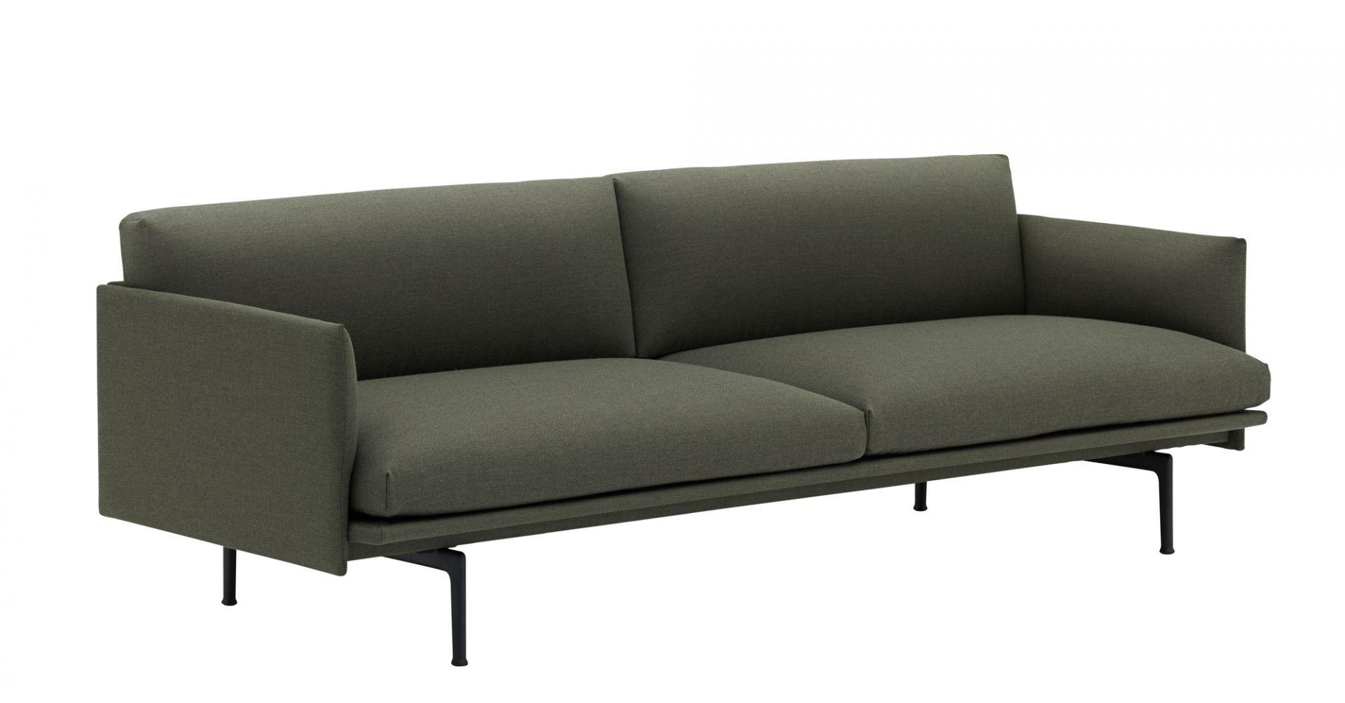 Outline 3-Seater Sofa Black Base Muuto