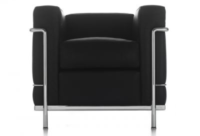 LC2 Armchair chrome-plated frame Cassina
