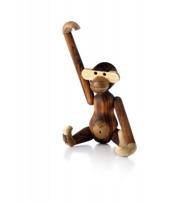 Monkey wooden figure teak Kay Bojesen