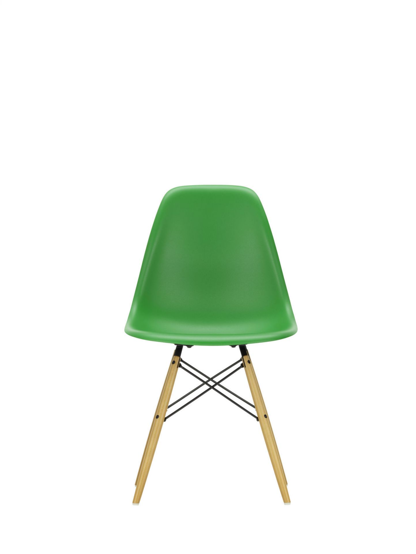 Eames Plastic Side Chair DSW Chair Vitra Maple yellowish - Ice grey