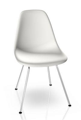 Eames Plastic Side Chair DSX Chair Vitra Chrome - White