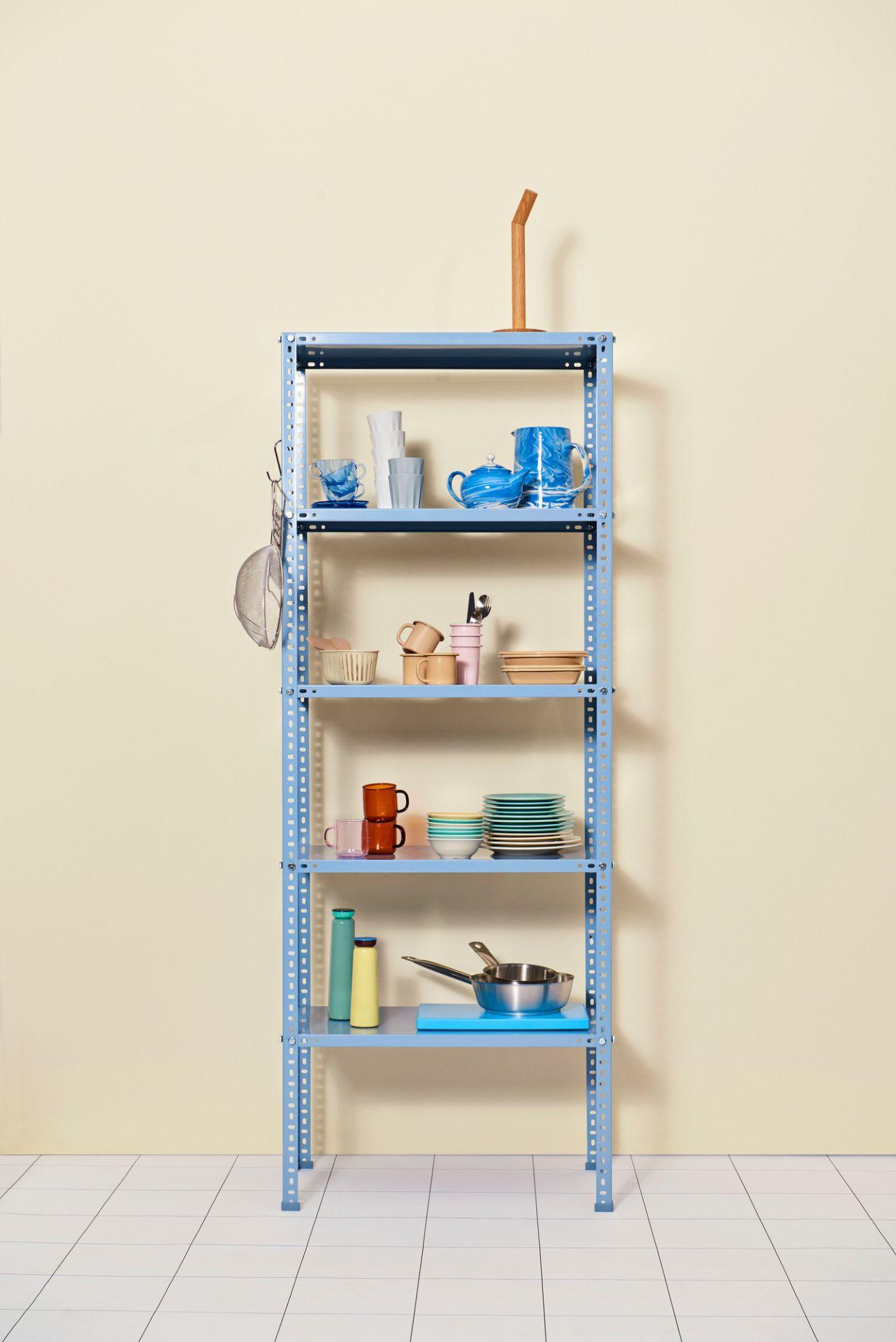 Hay Shelving Unit shelf dusty blue Hay