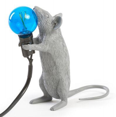 Mouse Lamp table lamp gray Seletti