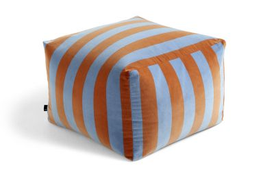 Pouf Soft Stripe Stool Hay