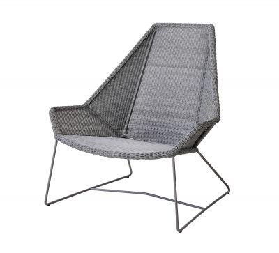 Breeze Outdoor highback chair light gray Cane-Line